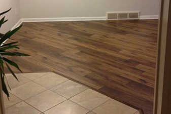 Laminate Flooring Remodel completed by Floors & More Abbey Flooring