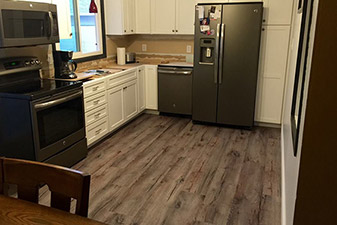 Vinyl Flooring Project completed by Floors & More Abbey Flooring